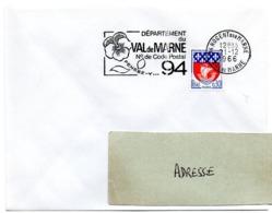 VAL De MARNE - Dépt N° 94  NOGENT Sur MARNE 1966 = FLAMME Codée = SECAP  ' N° De CODE POSTAL / PENSEZ-Y ' - Zipcode