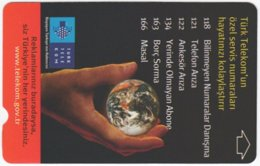 TURKEY C-282 Magnetic Telekom - Universum, Earth - Used - Turchia