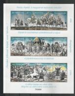 Hungary 1996 Hungarian Conquest Centenary Sheet IV Y.T. 3530/3532 ** - Blocks & Kleinbögen