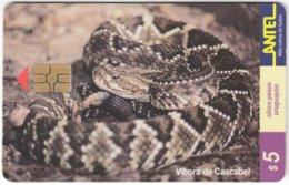 URUGUAY A-281 Chip Antel - Animal, Snake - Used - Uruguay