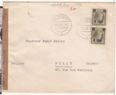 Enveloppe 1940/1945   VERS LA Belgique     1941    AVEC CENSURE - Occupation