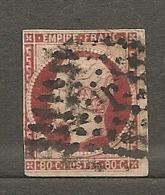 Yv. N° 17Al  (o)  80c Carmin Foncé Napoléon III  Losange Lettre J  Cote  70 Euro  Euro  D  2 Scans - 1853-1860 Napoléon III.