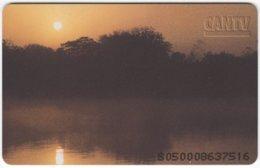 VENEZUELA B-180 Chip CanTV - Landscape, Sunset - Used - Venezuela