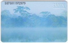 VENEZUELA B-182 Chip CanTV - Landscape, River - Used - Venezuela