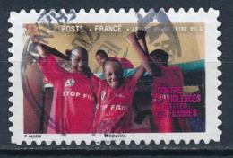 France - Contre Les Violences Faites Aux Femmes YT A420 Obl. Cachet Manuel Rond - Francia