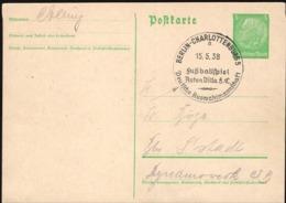 Germany - PSC Mi. P225 'BERLIN-CHARLOTTENBURG 15.5.1938, Fussballspiel ASTON VILLA F. C. - Deutsche Auswahlmannschaft'. - Allemagne