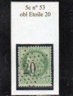 Paris - N° 53 Obl étoile 20 - 1871-1875 Cérès