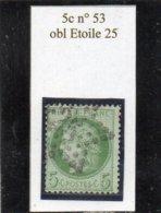 Paris - N° 53 Obl étoile 25 - 1871-1875 Cérès