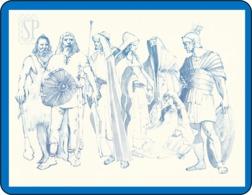 Reproduction D'une Aquarelleles Romain Les Celtes Reproduction Watercolor Romans Reproduktion Aquarells Romanos - Acquarelli