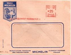 Pneu Michelin, Automobile, Clermont Ferrand, EMA Havas CW - Enveloppe Entière (V405) - Autres Collections