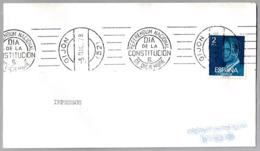 Rodillo REFERENDUM NACIONAL - DIA DE LA CONSTITUCION - 6 DE DICIEMBRE. Gijon, Asturias, 1978 - 1931-Hoy: 2ª República - ... Juan Carlos I
