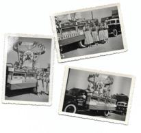 Camion Publicitaire Pour La Laiterie De Herve  3 Photos 9x6 - Personnes Anonymes
