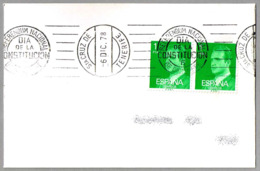 Rodillo REFERENDUM NACIONAL - DIA DE LA CONSTITUCION - 6 DE DICIEMBRE. Sta Cruz Tenerife, Canarias, 1978 - 1931-Hoy: 2ª República - ... Juan Carlos I