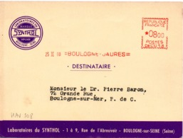 "Médecine, Pharmacie, Médicament ""Synthol"", Boulogne - EMA Havas CW, Carte Publicitaire  (V406) - Autres Collections"