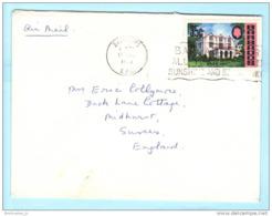 BARBADOS - Brief Cover Lettre 308 St. Nicolas Kloster Bauwerk - SST Slogan Cachet (Scan)(23156) - Barbados (1966-...)