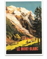 Publicité Pub Affiche CPM Le Mont Blanc - Werbepostkarten