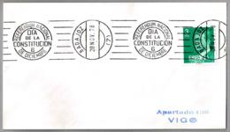 Rodillo REFERENDUM NACIONAL - DIA DE LA CONSTITUCION - 6 DE DICIEMBRE. Badajoz, Extremadura, 1978 - 1931-Hoy: 2ª República - ... Juan Carlos I