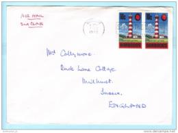 BARBADOS - Brief Cover Lettre 304 (Paar) Leuchtturm Bauwerk - SST Slogan Cachet (Scan)(23154) - Barbados (1966-...)