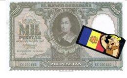 Billet Facsimil  1000 Pts 0000000 España Espagne1940 Enero - [ 3] 1936-1975: Regime Van Franco