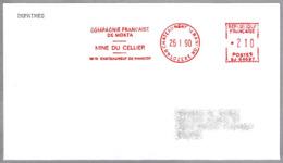 COMPAGNIE FRANCAISE DE MOKTA - MINE DU CELLIER. Mineria. Chateauneuf De Randon 1990 - Minerals