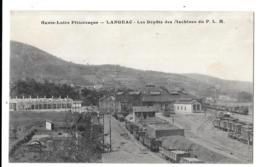 CPA.    LANGEAC.. GARE.  LES DEPOTS DES MACHINES DU P.L.M..1923.....PAS COURANTE...TBE... SCAN - Langeac