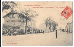 CPA.   VARANGEVILLE..( Haute )  .RUE MATIONALE..CAFE COURTEAUX..  ANIMATION PAS COURANTE..  1908..SCAN..TBE - Other Municipalities
