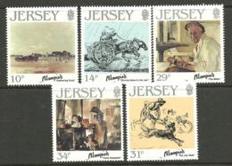 Jersey 1986 Jersey Artists VII - Edmond Blampied Mi 388-392  MNH(**) - Jersey