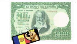 Billet Facsimil  1000 Pts 0000000 España Espagne1951   Diciembrev - [ 3] 1936-1975: Regime Van Franco