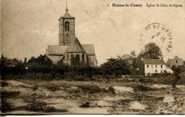 N°77366 -cpa Braine Le Comte -église St Géry Et Digues- - Braine-le-Comte