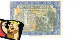 Billet Facsimil  1 Pts 0000000 España Espagne1940 - [ 3] 1936-1975: Regime Van Franco