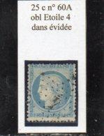 Paris - N° 60A Obl étoile 4 Dans évidée - 1871-1875 Cérès