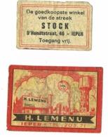 Ieper: H.Lemenu / Stock - Scatole Di Fiammiferi - Etichette