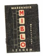 Izegem: Warenhuis Miblo - Boites D'allumettes - Etiquettes