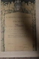 Diplôme De Médaille Commémorative Italie Guerre 14/18 Attribution Française - Francia