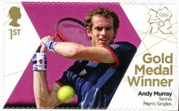 GRANDE-BRETAGNE 1v/Flt. J.O. Londres 2012 Médailles D'Or Tennis Murray Neuf ** MNH - 1952-.... (Elizabeth II)