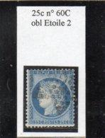 Paris - N° 60C Obl étoile 2 - 1871-1875 Cérès