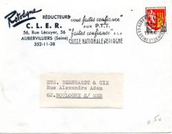 """Industrie, Entreprise """"Rotodyne"""", Aubervilliers - Flamme Secap, Blason Agen - Enveloppe Entière  (V411) - Autres Collections"""