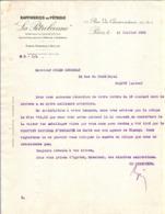 LETTRE 1926 RAFFINERIE De PÉTROLE LA PÉTROLÉENNE 11 Rue Du CONSERVATOIRE PARIS IX - BORDEAUX ROUEN - Frankreich