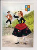 Carte Postale Brodée -   LA GASCOGNE - Embroidered