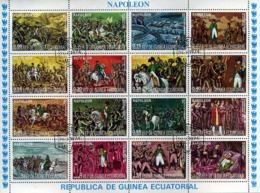 Bloc Feuillet (16 Timbres Oblitérés) - Napoléon - Guinée Equatoriale