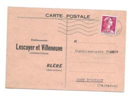 37/ INDRE Et LOIRE...Etablissements LESCUYER Et VILLENEUVE, Constructeurs à BLERE - Bléré