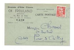 14/ CALVADOS... Graines D'Elite Clause..Ch. ROULAND, Rue Du Bras à CAEN - Caen