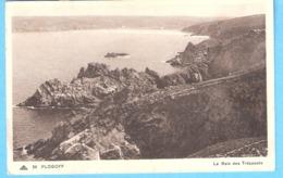 """Plogoff (Finistère)-1948-La Baie Des Trépassés-Timbre """"Marianne De Gandon"""" 3F -YT 716 - Plogoff"""