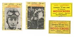 Loppem: Motorcross - Scatole Di Fiammiferi - Etichette