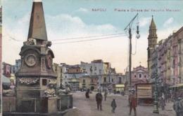 CARTOLINA - NAPOLI - PIAZZA E CHIESA DEL VECCHIO MERCATO  - VIAGGIATA PER UDINE - Napoli