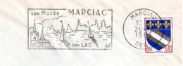Tourisme, Marciac, Gers, Musée, Nautisme - Flamme Secap - Enveloppe Entière  (V413) - Autres Collections