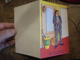 """Carte Dépliant Illustrateur R Raginel """" Plaisir Du Plombier """"femme Seins Nus Dans Salle De Bain  Grivoise - Artisanat"""