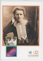 Marie Curie - Portrait - Anniversaire 1909/200(pedro Lombardi Sylvia Grille Lionel Larue) Istitut Curie Coll (cp Vierge) - Premi Nobel