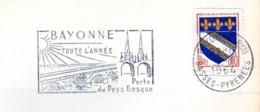 Tourisme, Bayonne, Pays Basque - Flamme Secap - Carte Publicitaire  (V413) - Autres Collections