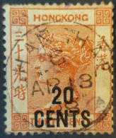 HONGKONG 1885 - Canceled - Sc# 51 - 20c/2c - Hong Kong (...-1997)